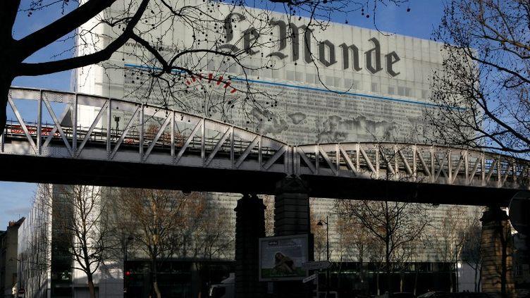 """Les locaux du """"Monde"""", situés boulevard AugusteBlanquià Paris. (MANUEL COHEN / AFP)"""