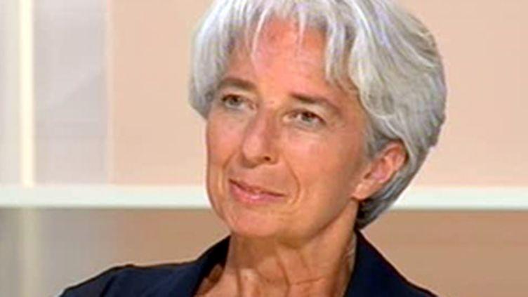Christine Lagarde, ministre de l'Economie et des Finances (France 2) (© France)