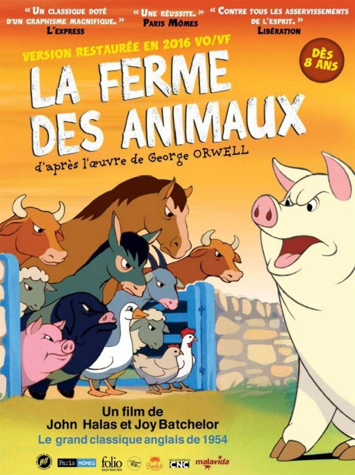 """""""la Ferme des animaux"""" : l'affiche  (Malavida)"""