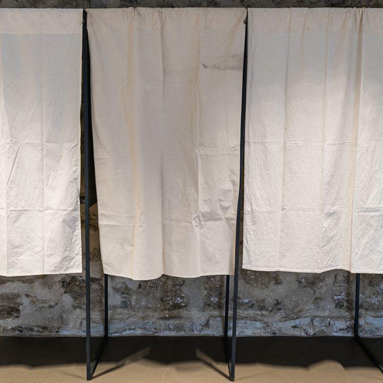 Un bureau de vote à Lyon, le 20 juin 2021. (SABINE GREPPO / HANS LUCAS)
