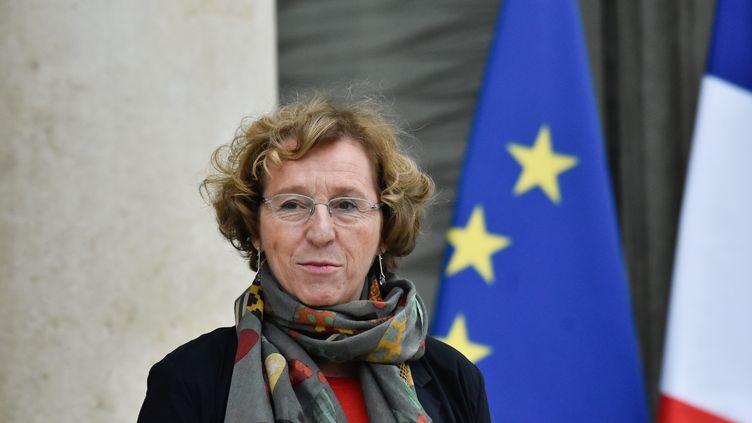 La ministre du Travail, Muriel Pénicaud, ici le 12 janvier 2018 à la sortie du conseil des ministres. (MAXPPP)