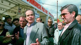 Georges Marchais à la fête de l'Humanité à la Courneuve (Seine-Saint-Denis), le 16 septembre 1996. (MAXPPP)