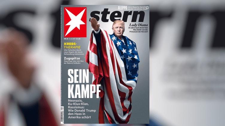 La unedu magazine allemand Stern, publiée le 24 août 2017, où Donald Trump est grimé en Adolf Hitler. (STERN)