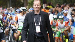 Christian Prudhomme, le directeurdu Tour de France, avant le départ du Tour d'Italie, le 11 mai 2017. (LUK BENIES / AFP)