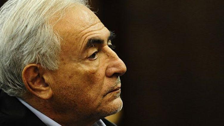 Dominique Strauss-Kahn devant la cour criminelle de New York, le 16 mai. (AFP/Emmanuel Dunand)