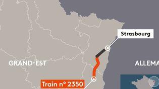 Un glissement de terrainserait à l'origine dudéraillement d'un train près d'Ingenheim (Bas-Rhin) jeudi 5 mars. (FRANCE 2)