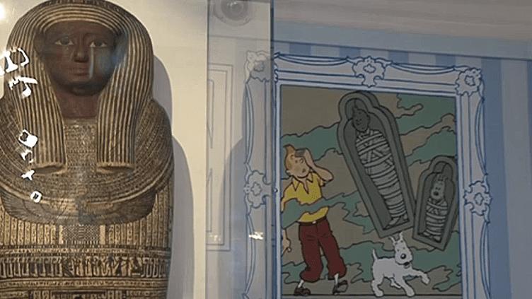 """Tintin et les momies dans """"Le secret des Pharaons"""" au Musée en Herbe à Paris  (France 3 / Culturebox)"""