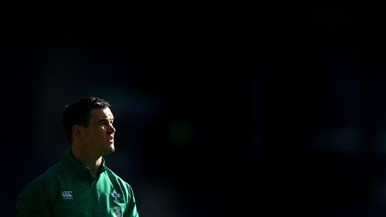 L'ouvreur irlandais Jonathan Sexton avant un match contre l'Ecosse, le 21 mars 2015 à Murrayfield (Ecosse). (RICHARD HEATHCOTE / GETTY IMAGES EUROPE)