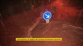 La Côte d'Azur inondée dans la nuit du 1er au 2 décembre (FRANCEINFO)
