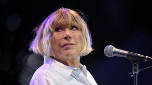 Marianne Faithfull lors de la 23ème édition du festival Cognac Blues Passion, le 8 juillet 2016 (GUILLAUME SOUVANT / AFP)