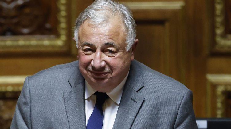 Gérard Larcher, le président du Sénat, dans l'hémicycle du palais du Luxembourg, à Paris, le 1er octobre 2020. (THOMAS COEX / AFP)