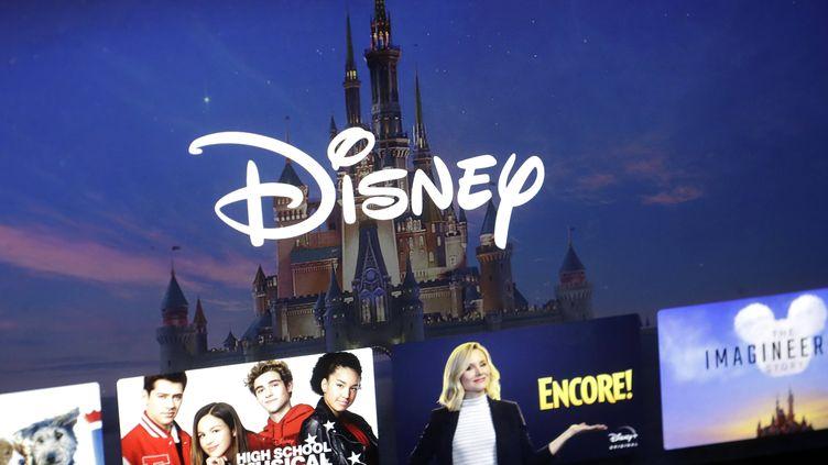 Logo Disney et les programmes proposés par la plateforme de Streaming, 13 novembre 2019 (STEVEN SENNE/AP/SIPA / SIPA)