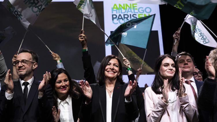 Anne Hidalgo fait campagne lors des élections municipales 2020 pour sa réélection à la mairie de Paris. (ALEXIS SCIARD / MAXPPP)
