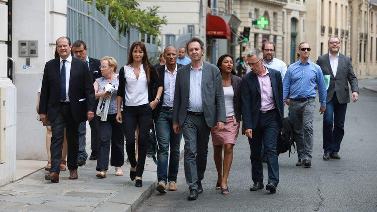 Les membres du Parti socialiste se sont réunis samedi 8 juillet en conseil national pour désigner une nouvelle direction, collégiale. Elle remplacera le Premier secrétaire, Jean-Christophe Cambadélis, qui a démissionné après les élections législatives. (OLIVIER LEJEUNE / MAXPPP)