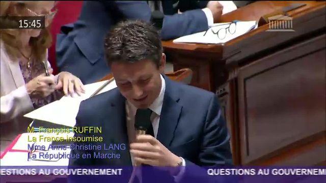 """François Ruffin et Benjamin Griveaux s'écharpent sur la vaisselle de l'Elysée et """"les riches"""""""