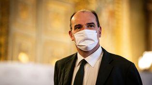 Le Premier ministre Jean Castex lors de son arrivée au Sénat, le 16 décembre 2020 à Paris. (XOSE BOUZAS / HANS LUCAS / AFP)
