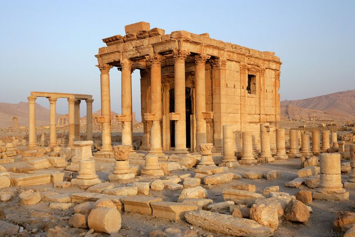 A Palmyre, le temple de Baalshamin a été détruit par Daech  (Manuel Cohen / AFP)