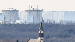 La centrale de Fessenheim (Haut-Rhin), le 31 janvier 2020. (PATRICK SEEGER / AFP)