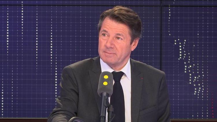 """Le maire Les Républicains de Nice, invité du """"8h30 Fauvelle-Dély"""", le mardi 29 janvier 2019. (FRANCEINFO / RADIOFRANCE)"""