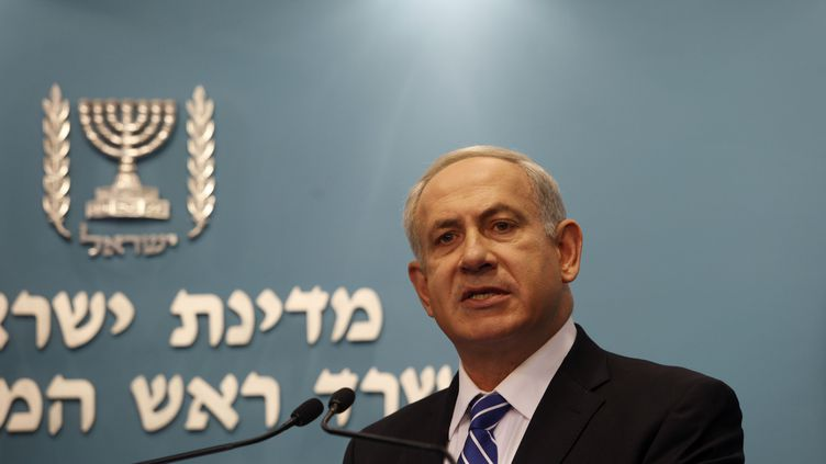 Le Premier ministre israélienBenyamin Netanyahu, à Jerusalem (Israël), le 9 octobre 2012. (GALI TIBBON / AFP)