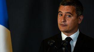 Le ministre de l'Intérieur, Gérald Darmanin, le 26 juillet 2021 à Saint-Etienne-du-Rouvray (Seine-Maritime). (JEAN-FRANCOIS MONIER / AFP)