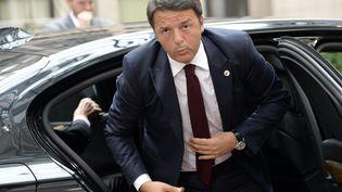 Le Président du Conseil italien Matteo Renzi à Bruxelles (Belgique), le 12 juillet 2015. (THIERRY CHARLIER / AFP)
