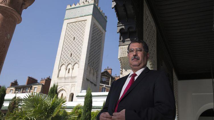 Anouar Kbibech, president du CFCM, à la Grande mosquée de Paris, le 17 juin 2015. (JOEL SAGET / AFP)