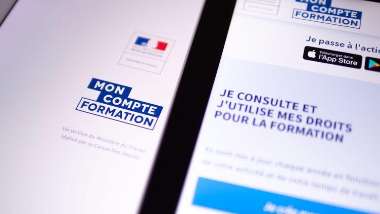 Le site moncompteformation.fr. Photo d'illustration. (CHRISTOPHE MORIN / MAXPPP)