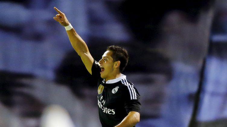 Javier Hernandez a inscrit un doublé pour conclure sa belle semaine  (? MIGUEL VIDAL / REUTERS / X01219)