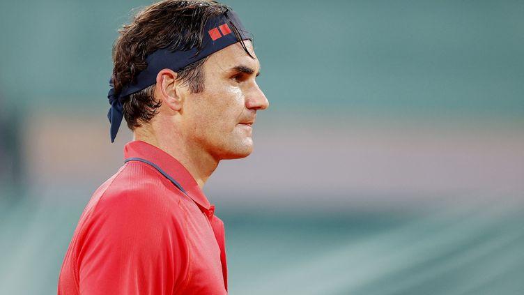Roger Federer à Roland-Garros, le 5 juin 2021. (NICOL KNIGHTMAN / NICOL KNIGHTMAN)