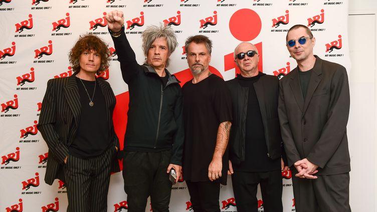 Le groupe Indochine lors d'unshowcase à la Seine musicale le 29 septembre2020 (ANTHONY GHNASSIA/SIPA)