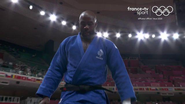 Deux combats et deux victoires pour Teddy Riner qui se hisse en quarts de finale du tournoi olympique des +100 kg après avoir battu l'Israélien Or Sasson d'un waza-ari.