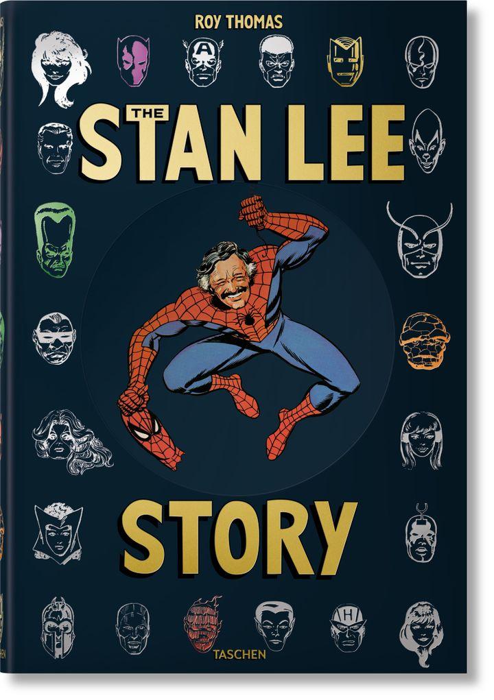 """""""The Stan Lee Story"""" de Roy Thomas (Ed. Taschen) : première de couverture. (Editions Taschen)"""