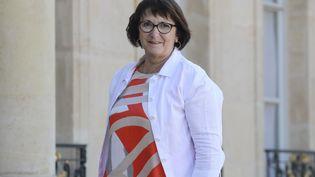 Christiane Lambert, présidente de la FNSEA, le 24 juin 2020. (LUDOVIC MARIN / AFP)