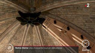 La nouvelle charpente de bois de Notre-Dame de Paris. (France 2)