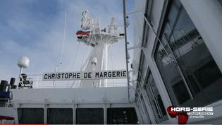 Leméthanier brise-glaceChristophe de Margerie. (FRANCE 2 / FRANCETV INFO)