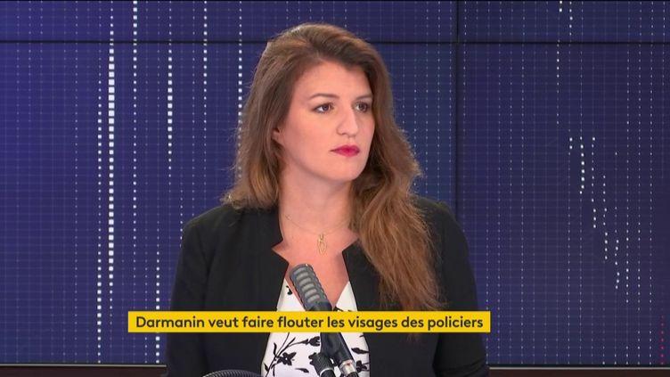 """Marlène Schiappa, ministre déléguée chargée de la Citoyenneté, était l'invité du """"8h30 franceinfo"""", le 11 septembre 2020. (FRANCEINFO / RADIOFRANCE)"""