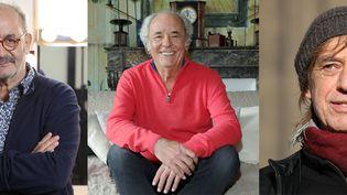 Louis Chedid, Maxime Le Forestier et Jean-Louis Aubert se sont confiés à franceinfo. (MAXPPP)