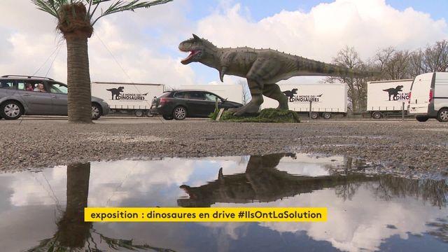 """L'exposition """"Le monde des dinosaures"""" en drive-in"""