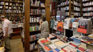 Delamain, la plus ancienne librairie parisienne qui remonte au XVIIIe siècle  (DOMINIQUE FAGET / AFP)