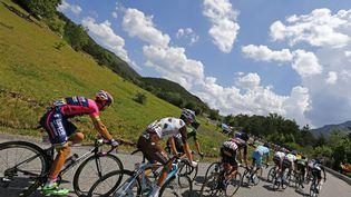 Le peloton, lors de la 17e étape du Tour de France, entre Digne-les-Bains et Pra-Loup (Alpes-de-Haute-Provence), mercredi 22 juillet 2015. (STEFANO RELLANDINI / REUTERS)