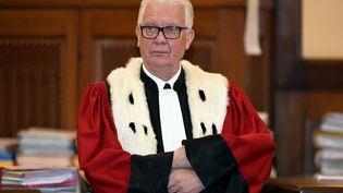 Jean-Marie Beney, procureur général de Metz, le 25 avril 2017, lors de l'ouverture du procès dudouble meurtre de Montigny-lès-Metz. (MAXPPP)
