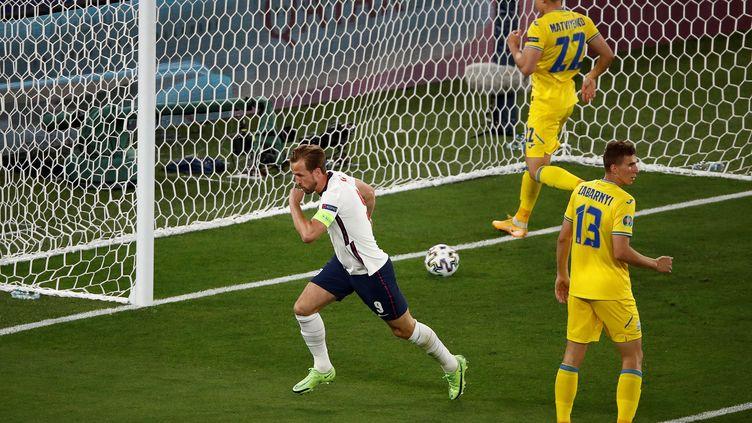 Harry Kane, buteur face à l'Ukraine lors du quart de finale de l'Euro, samedi 3 juillet 2021. (ALESSANDRO GAROFALO / POOL)
