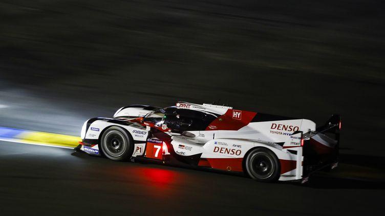 La Toyota N.7 de nuit aux 24 Heures du Mans (FLORENT GOODEN / DPPI MEDIA)