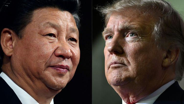 Le président chinois Xi Jinping et le président américain Donald Trump. (DAN KITWOOD / AFP)