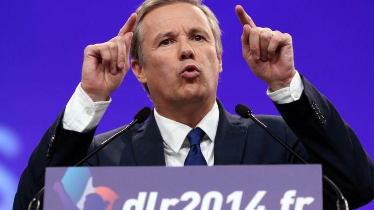 Le président de Debout la république Nicolas Dupont-Aignan, le 5 octobre 2013 à Paris. (KENZO TRIBOUILLARD / AFP)