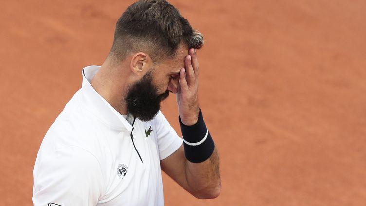 Le Français Benoît Paire, à Roland-Garros, mercredi 30 octobre 2020. (STEPHANE ALLAMAN / AFP)