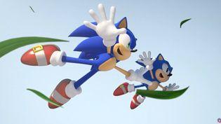 Sonic, le hérisson bleu de Sega, fête ses 30 ans. (FRANCEINFO / RADIOFRANCE)
