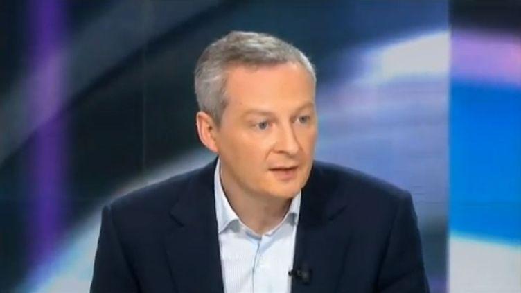 Bruno Le Maire, le 10 février 2013 sur le plateau de France 2. (CAPTURE FRANCETV INFO)