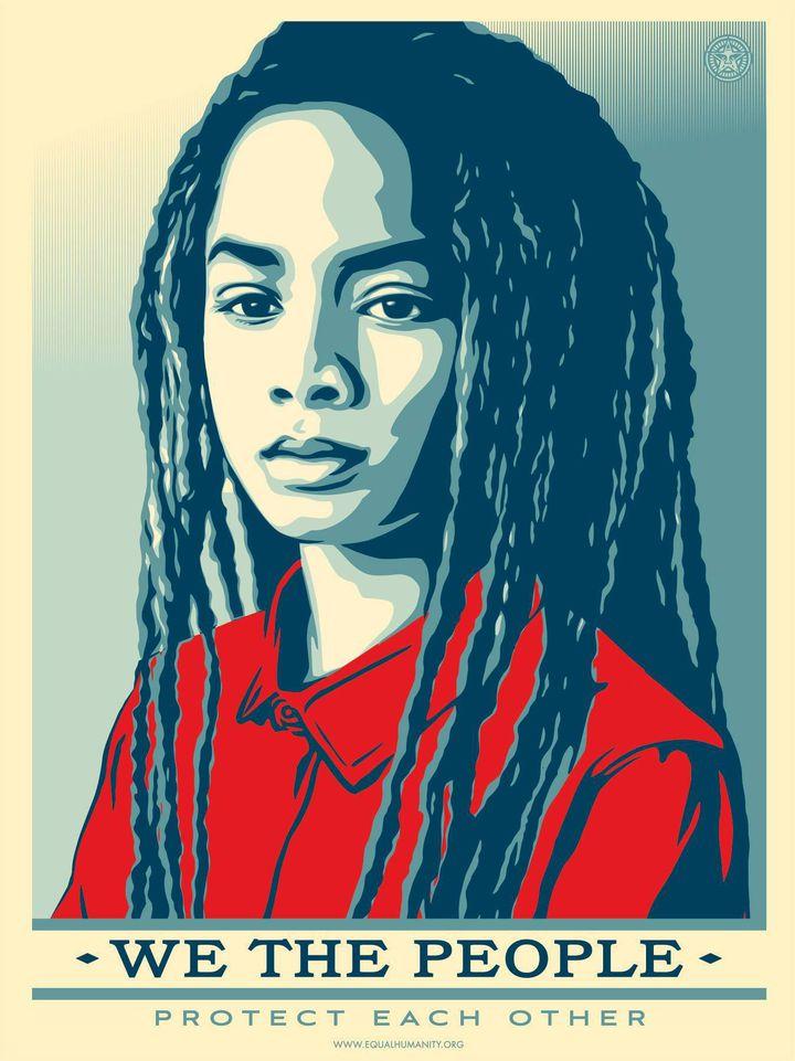 «Nous le peuple, nous nous protégeons les uns les autres» (Shepard Fairey)